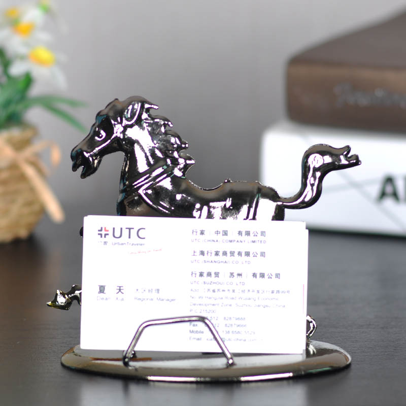 Home decoration creative type iron horse business card holder home decoration creative type iron horse business card holder desktop phone holder crafts decorations practical card holder in shoe decorations from shoes colourmoves Choice Image