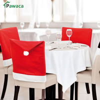 8 Pcs/set Christmas Santa Claus Hat Chair Covers Kitchen Decorations Home Party Dining Table Decoration Christmas New Year Gifts