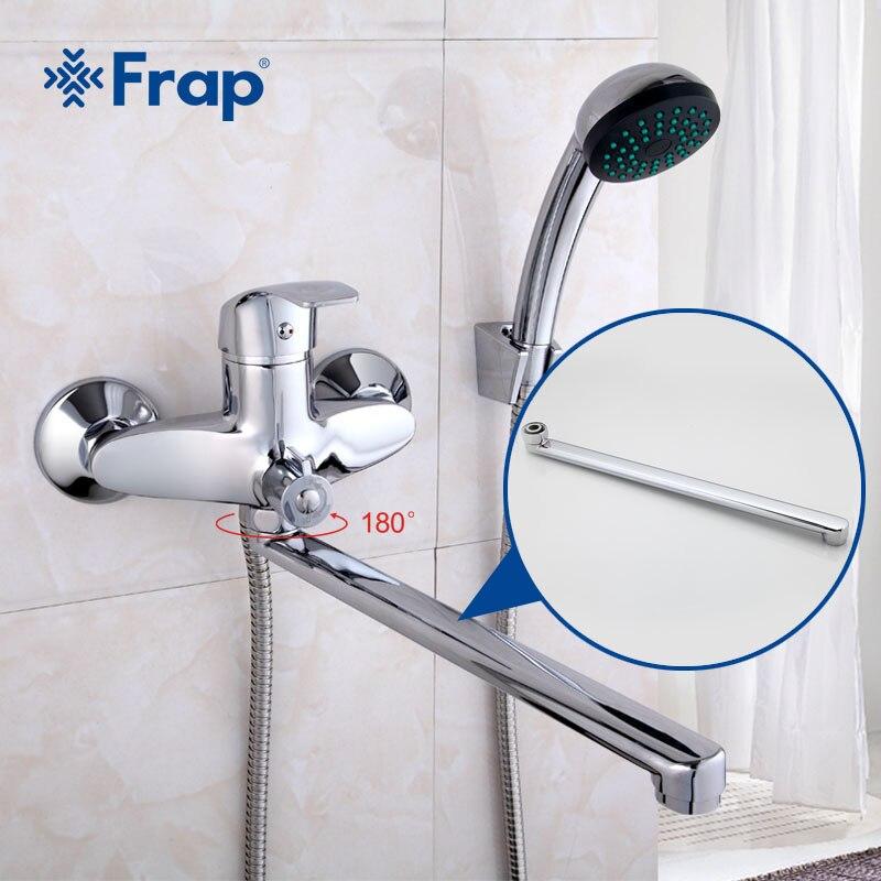 Frap Cm Bathtub Faucet Pipe Spout Faucet Brass Outlet Pipe - Bathroom faucet outlet