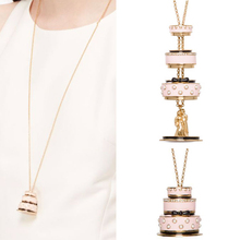 Choker Necklace Cake-Pendant Juicy-Grape Gilded-Chain Gifts Fashion Jewelry Lovers Women