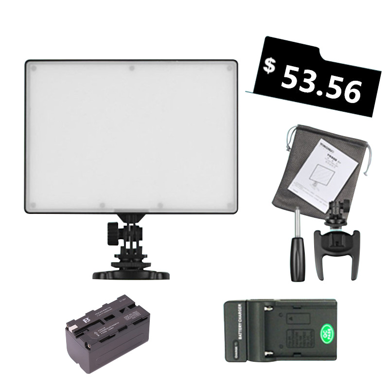 Ulanzi YONGNUO YN300 YN-300 Air LED Camera Video Light 3200-5500K with NP-F750 Decoded Battery+Charger for Canon Nikon&Camcorder godox led 308y 308 leds professional led video 3300k light with remote control for canon nikon camera dv camcorder
