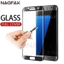3D Cong Cạnh Đầy Đủ Bìa Tempered Glass Đối Với Samsung Galaxy S7 S6 Cạnh Bảo Vệ Màn Hình Trên Các Đối Với Samsung S6 s7 Glass Phim