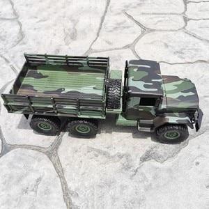 Image 3 - Mn 모델 mn77 1/16 2.4g 6wd rc 자동차 led 라이트 위장 군사 오프로드 rc 크롤러 자동차 원격 제어 트럭 rtr 완구
