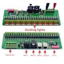 30 канала DMX 512 RGB Светодиодные полосы контроллер dmx-декодер диммер драйвер DC9V-24V