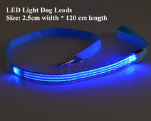 B10 Striped Pet dog LED leahses leads pet traction rope pull strap for dogs cats 120cm length battery and USB Rechargeable(China)