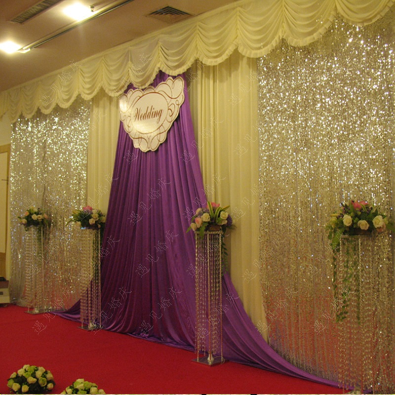 Top-rated wedding backdrops, wedding swags , wedding draps, party decorations,wedding shiny curtain