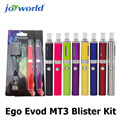 10 unids ego evod mt3 blister kit de envío libre de china al por mayor cigarrillo electrónico ego-t atomizadores evod mt3 distribuidor cigs (MM)