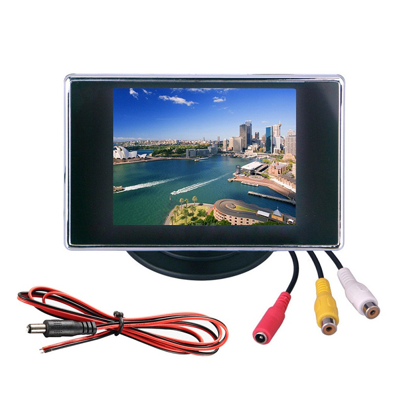 3.5 inch hd car lcd monitor video input rear view display mini monitor HD mini CCTV monitor CCTV Tester 2 din car radio mp5 player universal 7 inch hd bt usb tf fm aux input multimedia radio entertainment with rear view camera