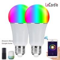 2PC E27 RGBW Dimmbar Smart WiFi Glühbirne LED Multicolor Bühne Lampe Voice Control Kompatibel Mit Alexa Und Google assistent