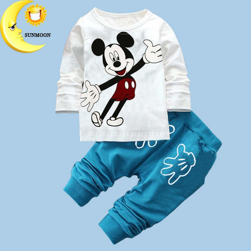2016 winter baby gilr/boy christmas clothing set kids cartoon pattern clothes children cloth suit Infants 2pcs tops+pants
