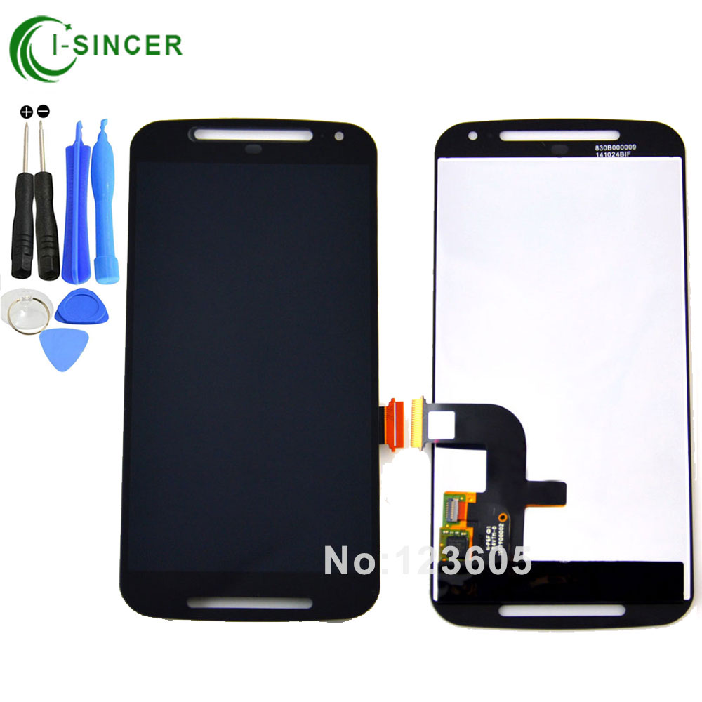 White Black LCD Display For Motorola Moto G2 XT1063 XT1064 XT1068 Touch screen with digitizer Assembly ,Free shipping new lcd display touch screen digitizer with frame for motorola moto g2 g 2nd xt1063 1064 1068 1069 free shipping
