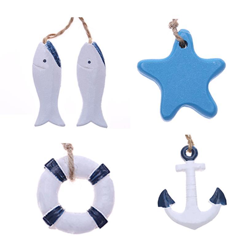 Fashion Swim Ring /Anchor /Fish /Star Innovative Home Mini Pendan Home Decoration Mini Colorful Craft Decor DIY Accessories