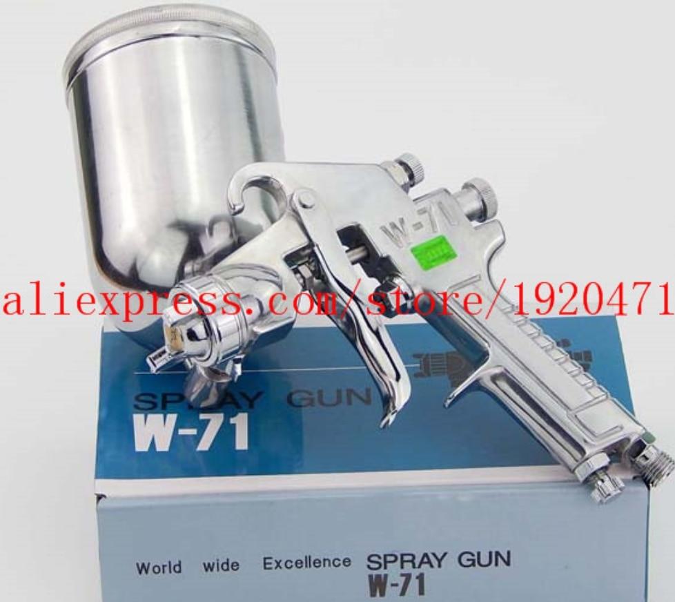 Japan Made Manual Spray Gun W-71 Gravity Feed Paint Spray Gun 1.0mm / 1.3mm / 1.5mm / 1.8mm Nozzle G1 / 4 Cup