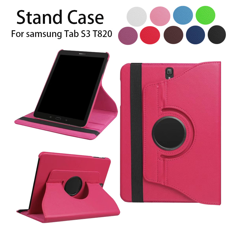 High Quality 360 Degree Rotating Stand Case For Samsung Galaxy Tab S3 9.7 T820 Cases Tablet Cover Holder PU Leather Protector