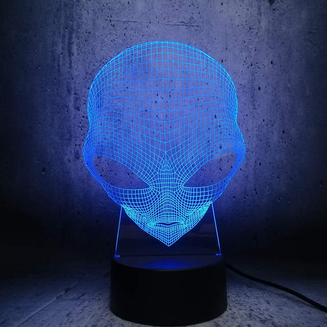 Us 3 86 20 Off Alien Head Lamp Led Lighting Illusion Cool Boy Bedroom Decor Table Night Light Kids Gift Lava Display Ager Room In