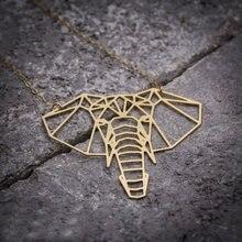 Niandi ожерелье со слоном на удачу слон оригами геометрическое