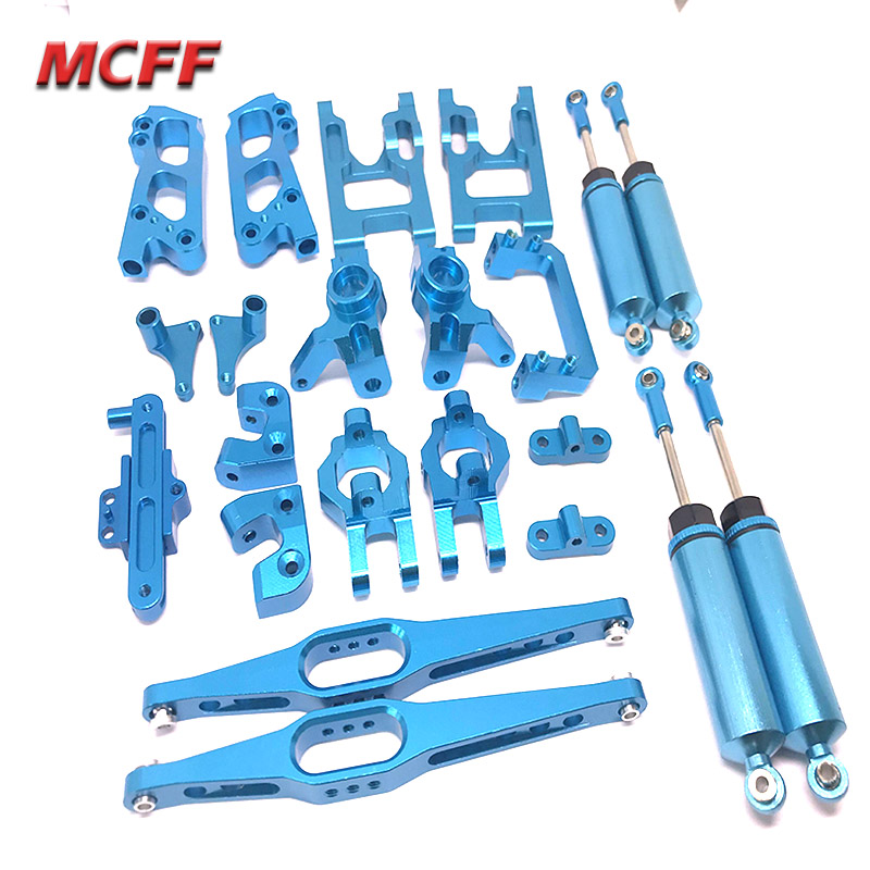 Wltoys 12428 12423 Metal upgrade part Classis/rear axle/arm/wavefront box/gear/connecting RC car 12423 12428 parts Accs