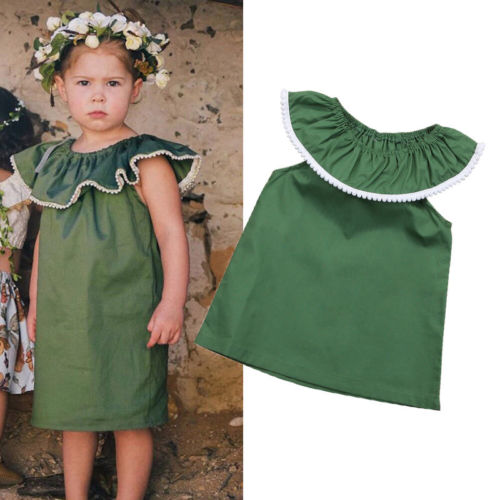 44d01228736b Detail Feedback Questions about Summer Toddler Baby Girls Ruffle Sleeveless Dark  Green Dress Little Girl Tutu Dress Pageant Party Dresses on Aliexpress.com  ...