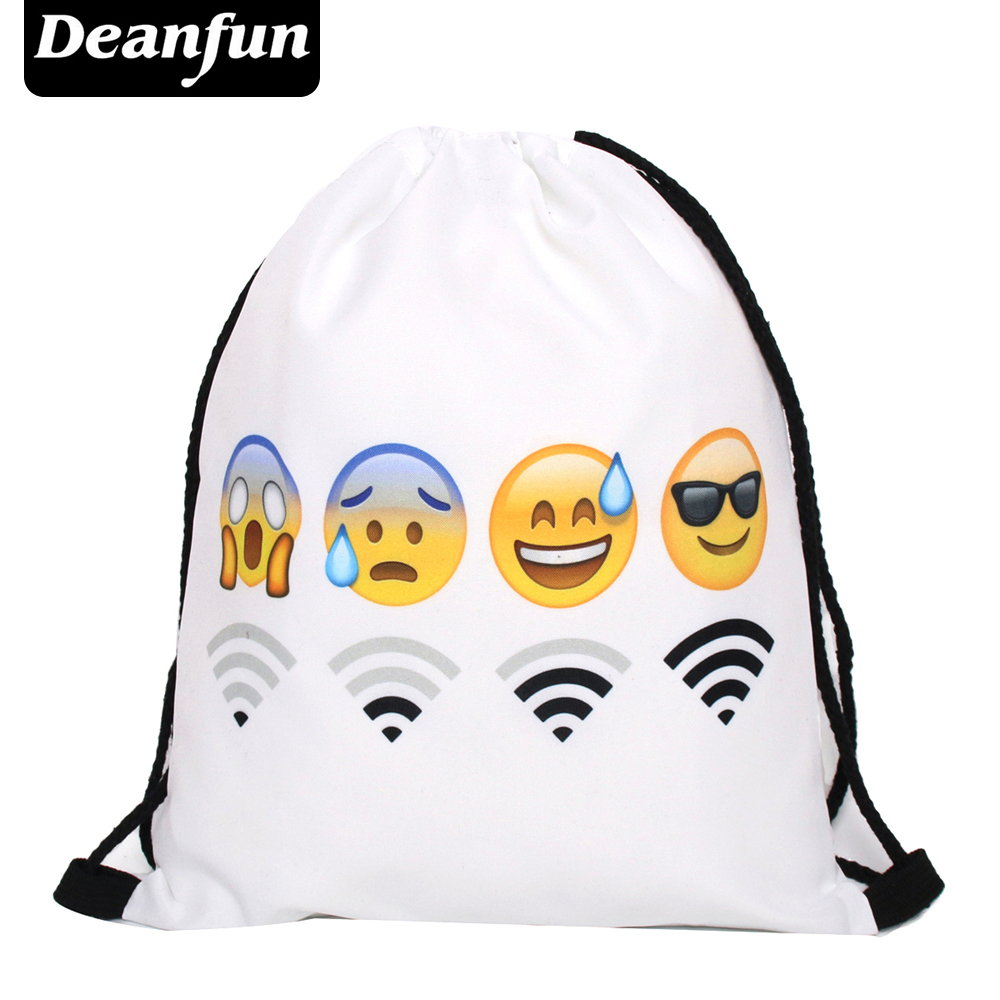 Deanfun Bag Ladies Emoji Backpack 2016 New Fashion Women Backpacks 3D Printing Bags Drawstring Bag For Men S76 2016 new sports men and women backpacks fashion men s backpack unsix men shoulder bag brand design ladies school backpack