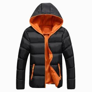 Image 3 - Bolubao casaco masculino moderno e casual, jaqueta masculina, cor sólida, simples, com capuz, moda de inverno