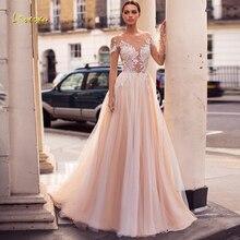 Loverxu Wedding Dress Long Sleeve Court Train Bride Dress