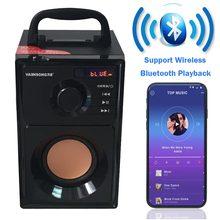 VAENSONG A10 деревянный HiFi Bluetooth динамик 2,1 стерео сабвуфер Портативный динамик s с fm-радио и колонка usb MP3 музыкальный плеер