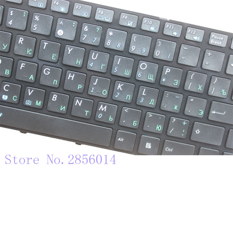 Image 2 - New RU Russian Keyboard For ASUS A44H A44HR A44HY A44L A44LY X44C X44H X44HR Laptop Frame Black-in Replacement Keyboards from Computer & Office on