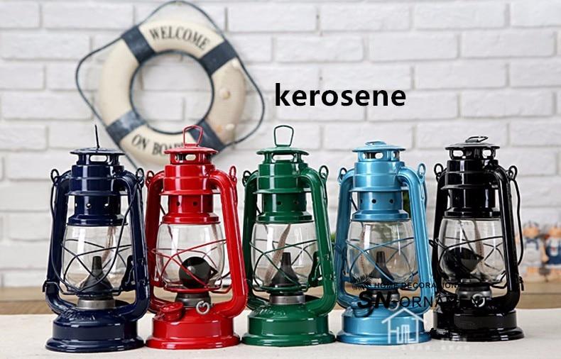 Ferro battuto led kerosene alcol lampade lanterna portatile di