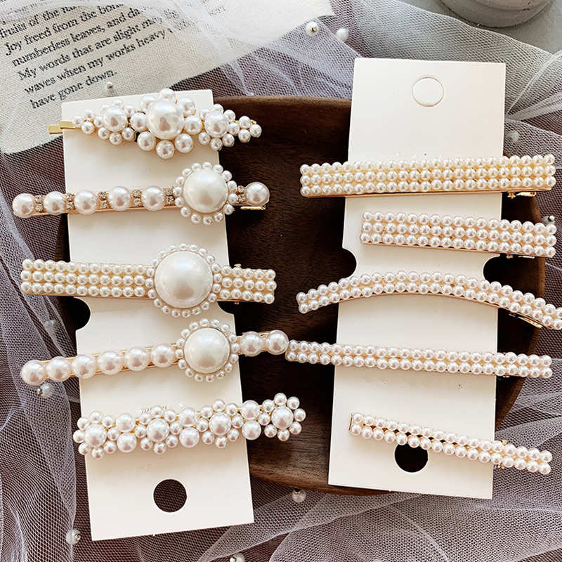 AOMU Korea Vintage Imitiation Pearl Hairpins for Women