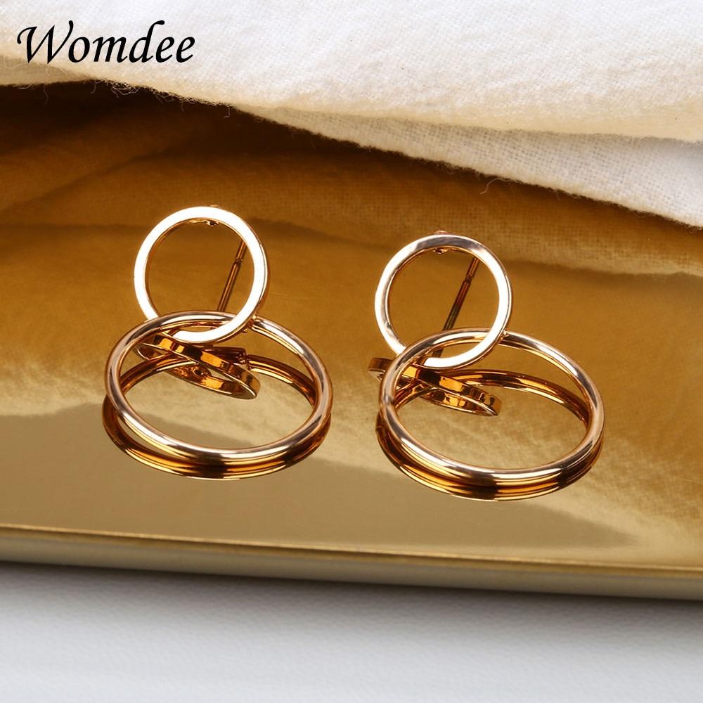 5993233bc1302 LWONG Gold Color Twisted Small Hoop Earrings Female Dainty Simple Coin Drop  Circle Earrings Minimalist Boho Earrings Wholesale