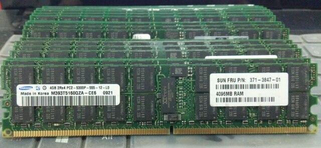 Память для Samsung 4 ГБ 8 ГБ DDR2 2Rx4 667 мГц PC2-5300P 667 4 г рег ECC RAM X3610 x3850M2 X3950M2 X3655