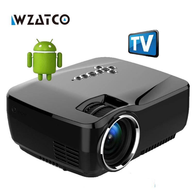 Prix pour Nouveau Mini projecteur Android 4.4 WIFI Bluetooth 4.0 HD LED Multimédia Projecteurs 1600 Lumens Home cinéma LCD Projektor Beamer