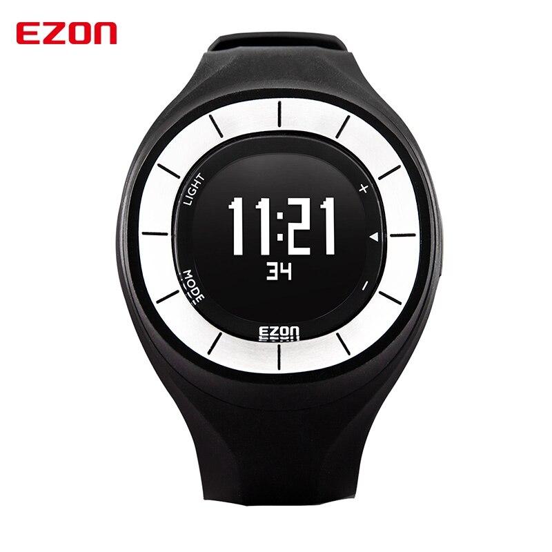 fd27a672946ff EZON رياضة المرأة ووتش السيدات ساعة رقمية ضد الماء تشغيل مقياس الخطو  السعرات الحرارية عداد لياقة ساعة سات Relogio Feminino
