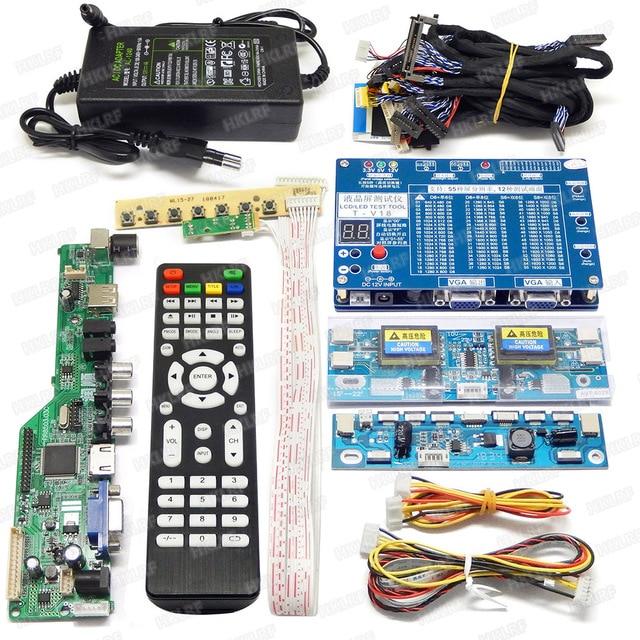 T V18 LED LCD מסך בודק זיהוי כלי עבור טלוויזיה מחשב נייד מחשב תיקון תמיכה 7 84 סנטימטרים + V29V56V59 LCD טלוויזיה בקר