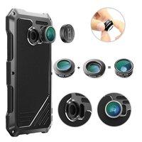 For Samsung Galaxy S7 Edge Waterproof Drop Dustproof Fisheye Lens Metal Phone Back Case Lens For