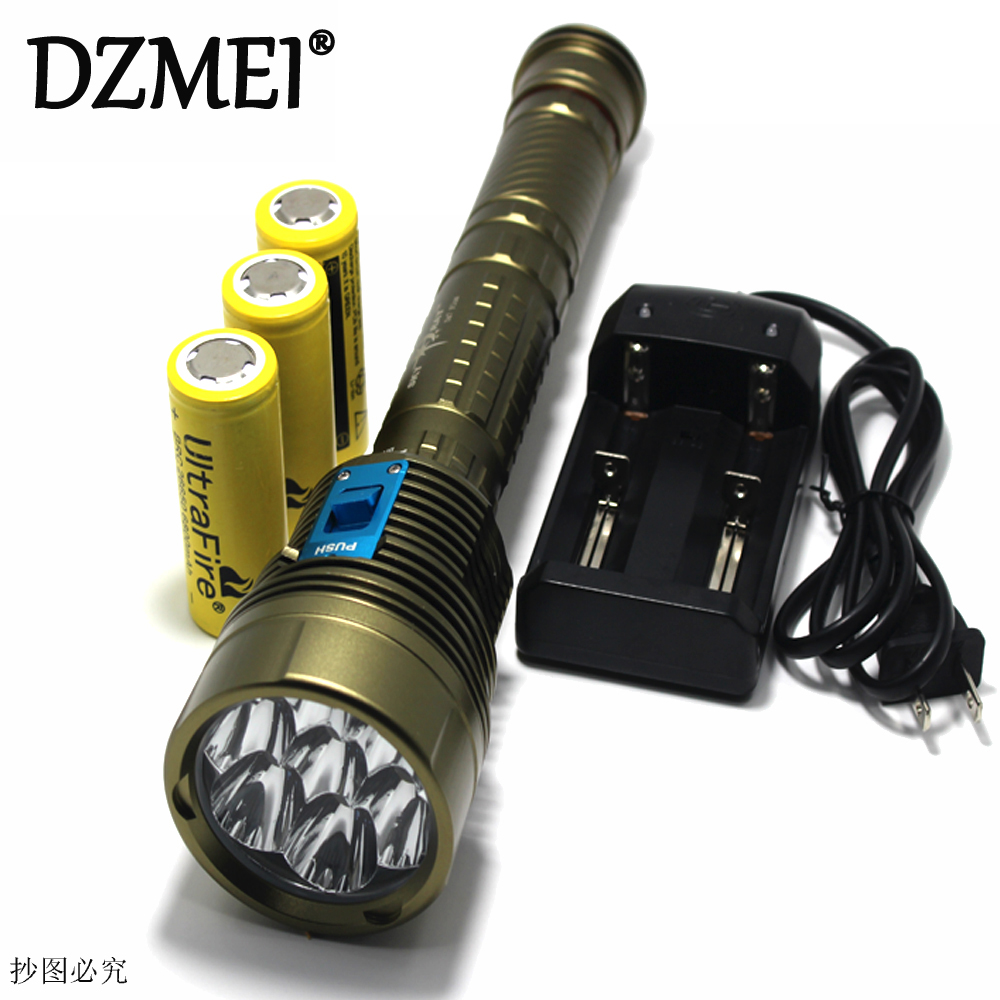 14000LM Underwater diving flashlight CREE L2 Waterproof LED Diving Flashlight  200m Light Lamp lanterna + 3*26650 Battery + Cha