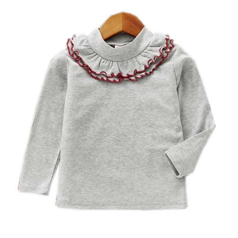 T-Shirt Children Ruffle Clothing Long-Sleeve Fall Girls Baby Kids Fashion Lace Casual