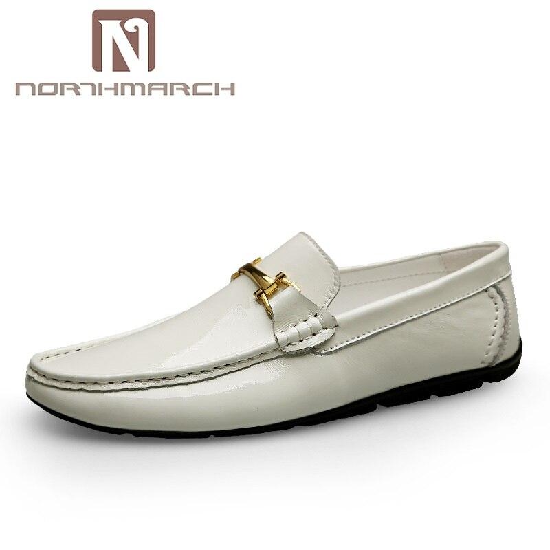 NORTHMARCH Мужская обувь 2019 Роскошные модные повседневные Лоферы обувь из натуральной кожи для мужчин дышащие мокасины для вождения Schoenen