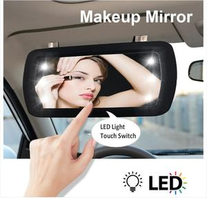 Автомобильный солнцезащитный козырек, светодиодные зеркала для макияжа, авто солнцезащитный козырек HD, внутреннее зеркало для макияжа авт...