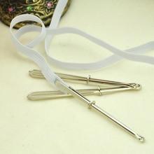 2 шт. Высокое качество зажимы для одежды швейные инструменты DIY лента-резинка удар крестиком практичная одежда эластичный зажим(одежда веревка