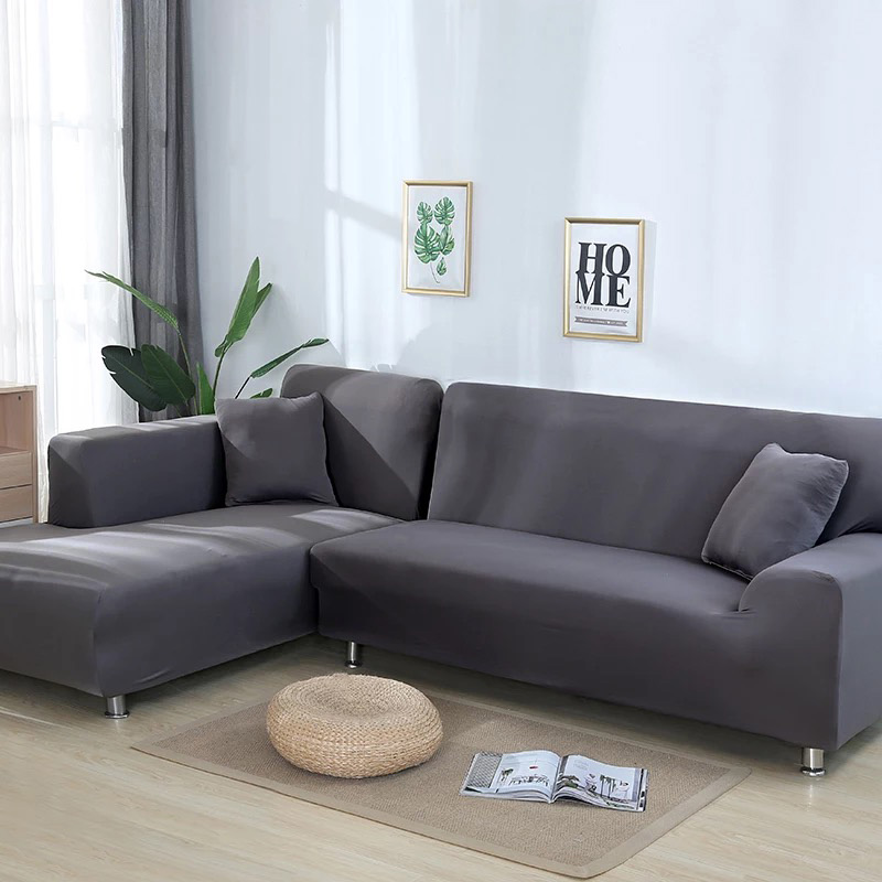 2 pieces Covers for L Shaped Sofa Corner Sofa Living Room Sectional Slipcovers Chaise Longue Covers Universal Stretch Elastic in Sofa Cover from Home Garden