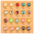 10Pcs/lot Candy Color Nail Rhinestone AB Drilling Bohemian Jewerly Crack Design for nail art decorations 6.5*8mm
