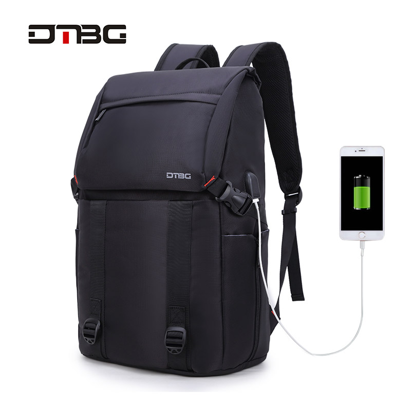 DTBG 17 Anti-theft Laptop Backpack Travel Business School Bag for Men Women Waterproof USB Charging Port Computer Bag for HP 14 15 15 6 inch flax linen laptop notebook backpack bags case school backpack for travel shopping climbing men women