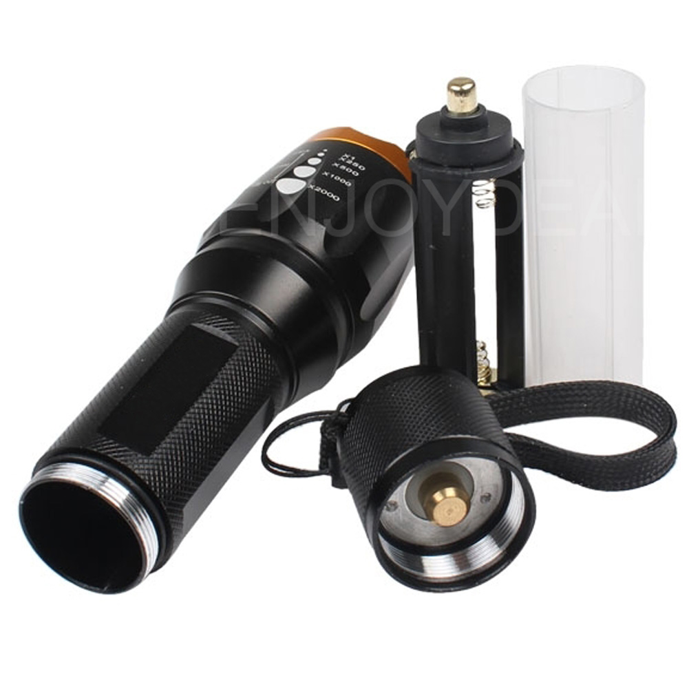 Gold Color Head Zoomable 3000 Lumen Cree XM-L T6 LED Flashlight Torch Zoom Focus Portable lanterna Camping Hunting light zk40 cree xm l t6 led headlamp 3800lm zoomable head light waterproof head torch headlight torch lanterna rechargeable head light