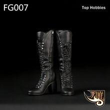 Черные сексуальные женские ботинки на высоком каблуке f007 в
