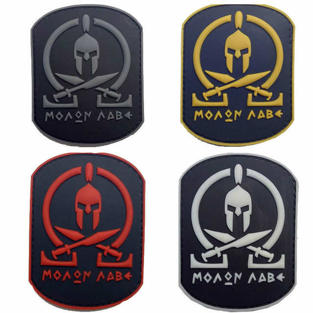 f79d98aa8d7 Online Shop PVC Badge Star Wars Spartan PVC Rubber Badges Military Tactical  Armband Patch Patches For Clothing Bag Cap