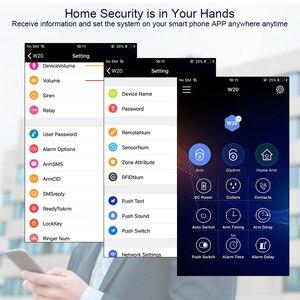 Image 5 - KERUI W20 Antifurto Senza Fili 2.4G WiFi Sistema di Allarme di Sicurezza Domestica di GSM Android IOS APP RFID Carta di Disarmare/Braccio LCD Touch Tastiera