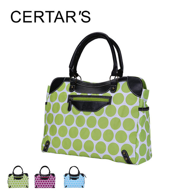 Certar S Fashion Mummy Handbags Baby Changing Bag Dot Ny Messenger Bags Tote Polyester Material
