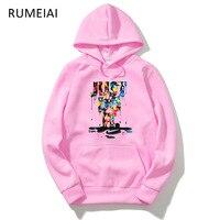 2018 Casual Long Sleeve 3D Hoodie Sweatshirt Polerones Hombre Pink Black Gray Hip Hop Just Do