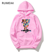 2018 Casual Long Sleeve 3D Hoodie Sweatshirt Polerones Hombre Pink Black Gray Hip Hop Just Do
